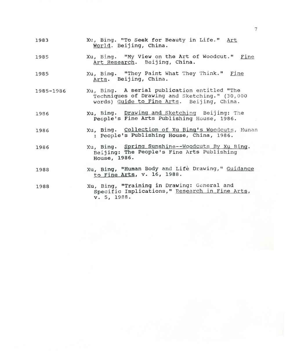 Bing Xu's Resume, pg 7